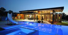 sagars road dural pool backyard at night gremmo homes