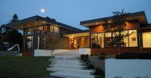 sagars road gremmo homes design front of home at night